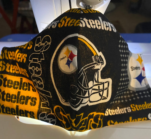 Steelers Face Mask w/ adjustable Comfort Strap