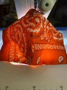 Orange Bandanna Face Mask