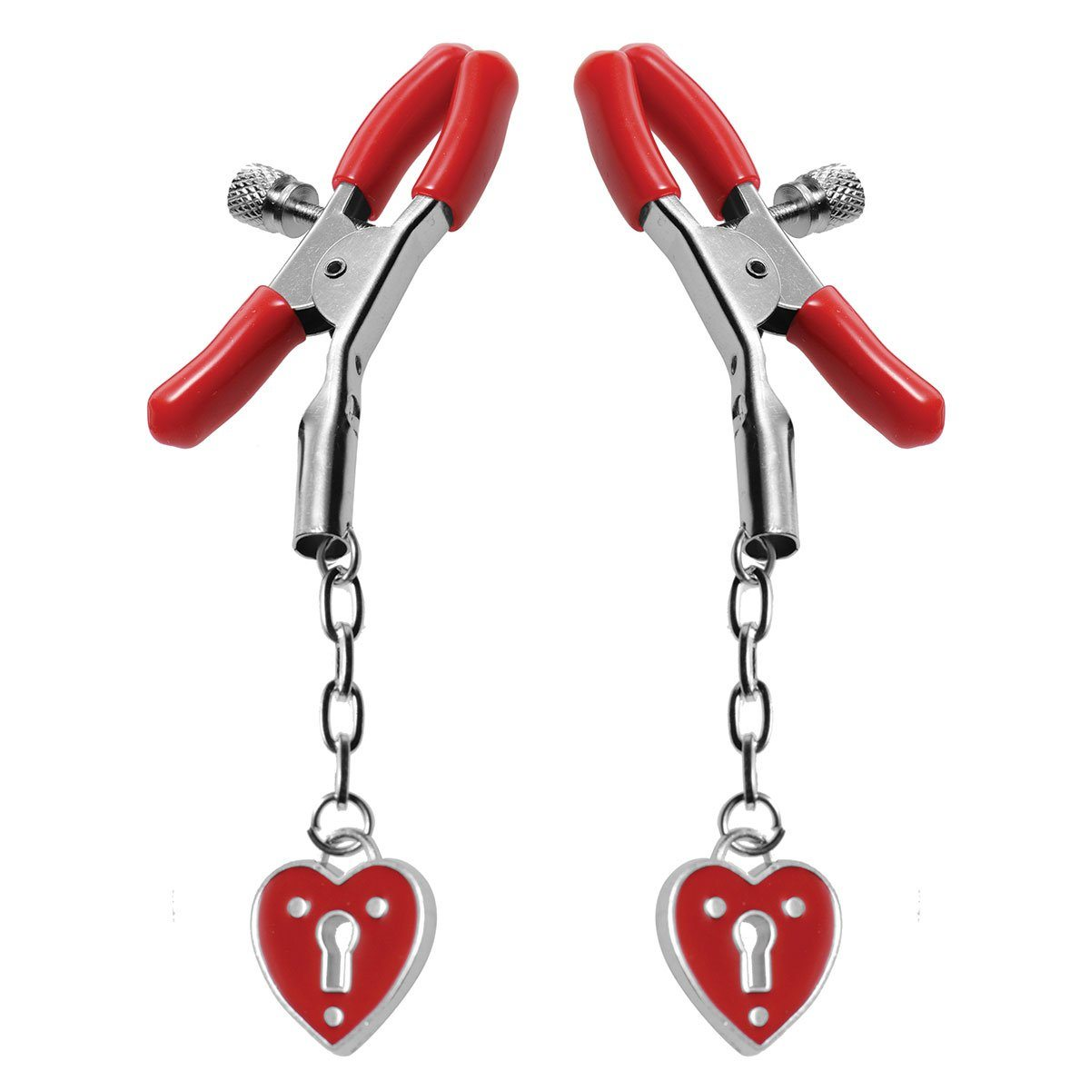 Xr Brands Heart Padlock Nipple Clamps 1  - Beyond Delights