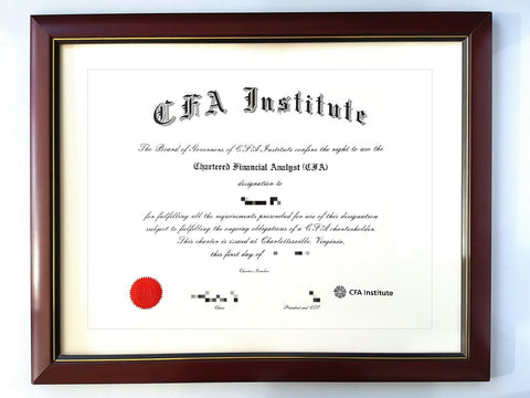 Luxyframe 50 Off Cfa Charter Certificate Frame Luxyframes