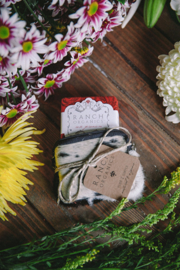 Ranch Organics Rose Geranium cowhide soap