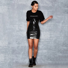 Load image into Gallery viewer, Jaz Women's High Waist Patent Leather Skirt
