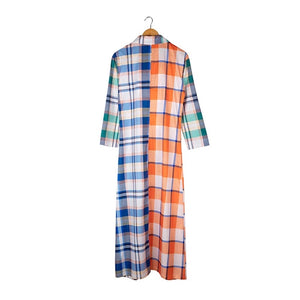 JOSY Plaid Ladies Floor Length Coat
