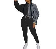 Load image into Gallery viewer, JUSTINE Ladies Color Blocked Sweatsuit Set