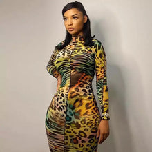 Load image into Gallery viewer, BRANDI Leopard Print Sheer Dress
