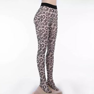 SADE Women's Lettered Graphic Tights
