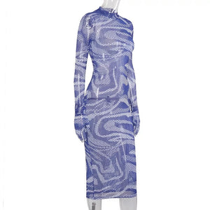 REIGN Sheer Dazed Ladies Dress