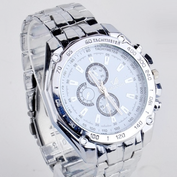 Men's Fashion Stainless Steel Belt Sport Business Quartz Watch Wristwatches VVF - Bestshopup