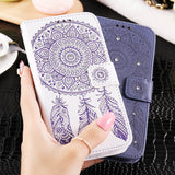 Embossed Wallet Case For Samsung Galaxy S6/ S6 Edge With Card Slot - Bestshopup