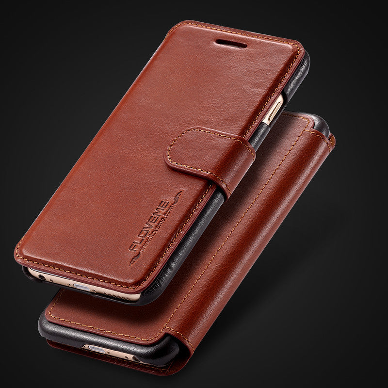 Classic Real Leather Wallet Holster Case For iPhone - Bestshopup
