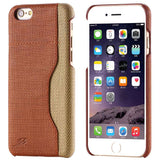 Skin PU Leather Fiber Case For iPhone with Card Holder Back Cover - Bestshopup