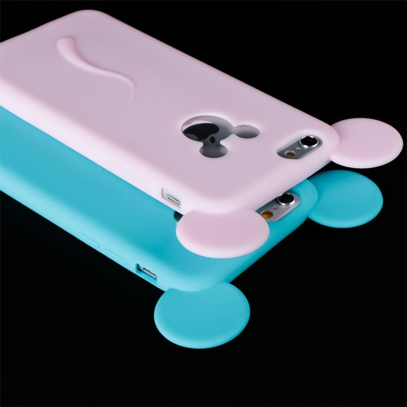 Soft 3D Mickey Mouse Ear Silicon iPhone Case - Bestshopup