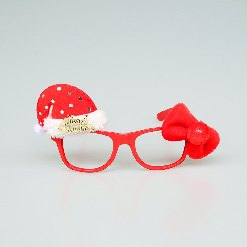 1PC Cute Christmas Decorations Santa Claus Spectacles Free Without Glasses Gifts Kids Toys Party Child Adults Ornaments - Bestshopup