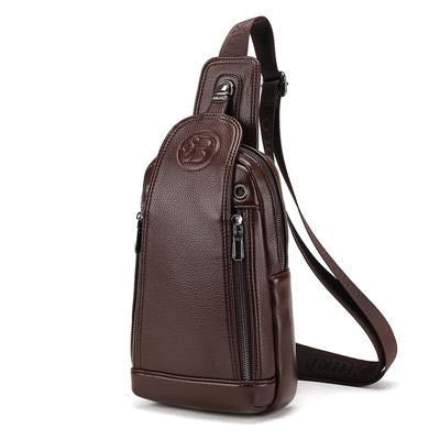 Single Shoulder Strap Back Leather Bag - Bestshopup