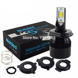 H4 LED Motorcycle Headlight HS1 Bulb BA20D 25W 2800LM Flip Chip Moto light Moped KMT EXC ATV Lamp Perfect Hi Lo Beam NAO #M5 - Bestshopup