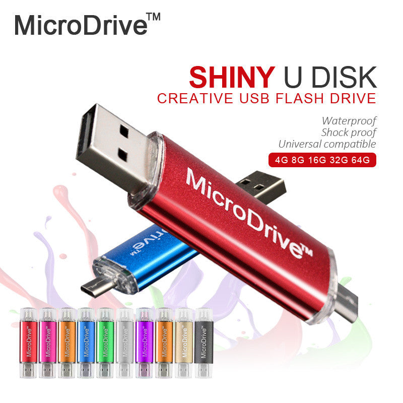 Micro Drive USB 2.0 Flash Drive Colorful OTG 4GB 8GB 16GB 32GB 64GB pen drive for Phone/Tablet/PC - Bestshopup