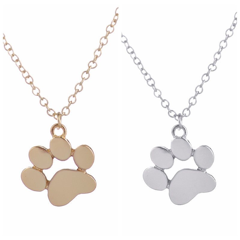 Women's Tassut Cat Dog Paw Print Animal Necklace - Bestshopup