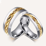 Women's Orsa Titanium Steel Couple Rings Set - Bestshopup