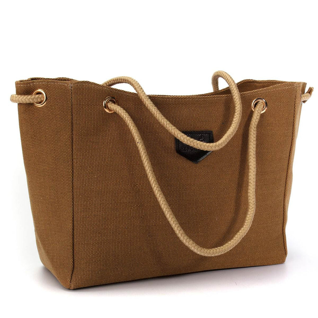 Women's Canvas Single Double Rope Shoulder Large Tote - Bestshopup