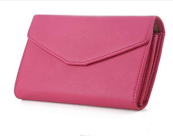 Women's Leather Wristlet Multifunction Long Wallet - Bestshopup