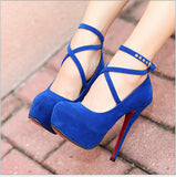 Women's Suede High Heel Pumps - Bestshopup