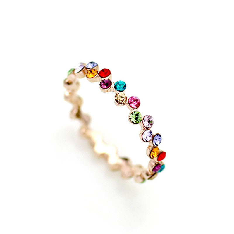 Women's Real Italina Rigant Crystal Vintage 18K Gold Plated Rings - Bestshopup