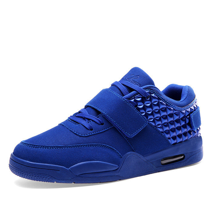 Men's Suede & PU Leather High Top Casual Shoes - Bestshopup
