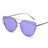 Women's 6 Luxury Cat Eye Double-Deck Alloy Frame Sunglasses - Bestshopup