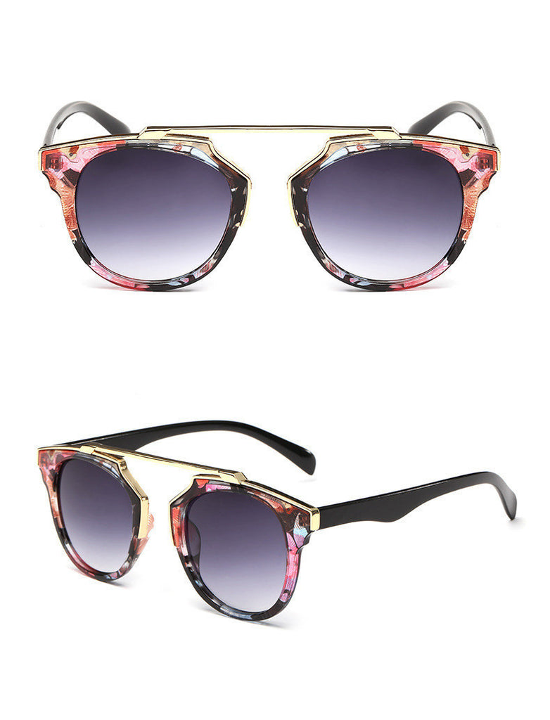 Women's Heevoo Round Mirrored Cat Eye Sunglasses - Bestshopup