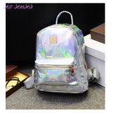 Hologram Laser Metallic Silver Backpack - Bestshopup