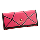 Women's Leather Lingge Metal Imperial Crown Wallets - Bestshopup