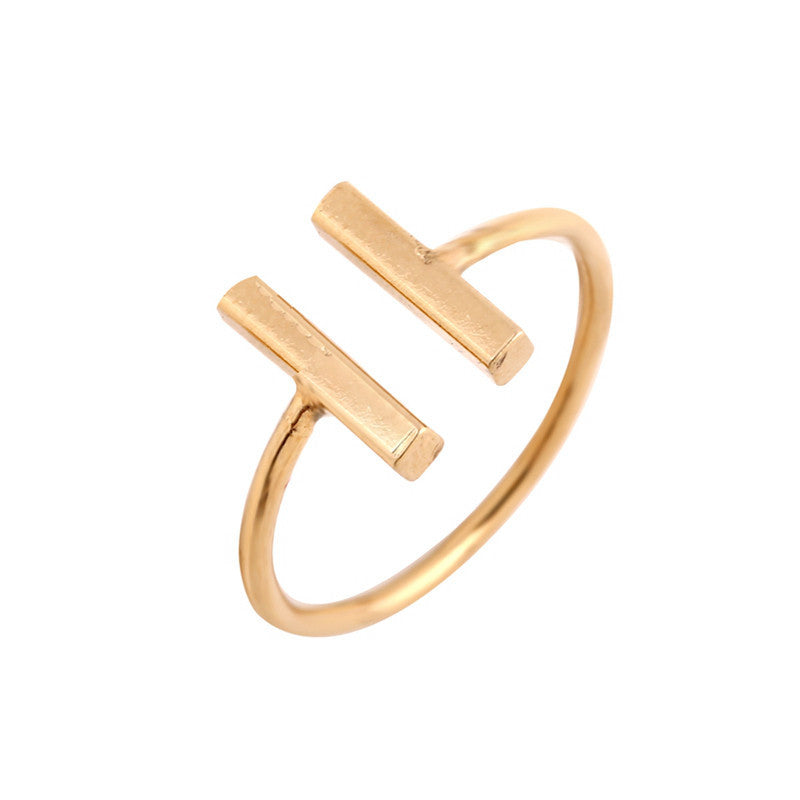 Women's Son of Anarchy Midi Geometric Plated Rings - Bestshopup