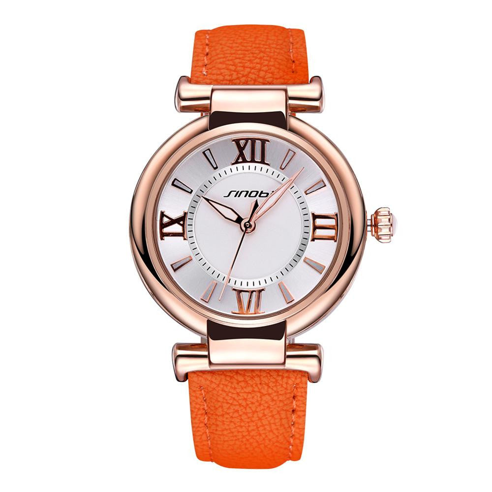 Women's Luxury Dress Waterproof Leather Strap Quartz-Watch - Bestshopup