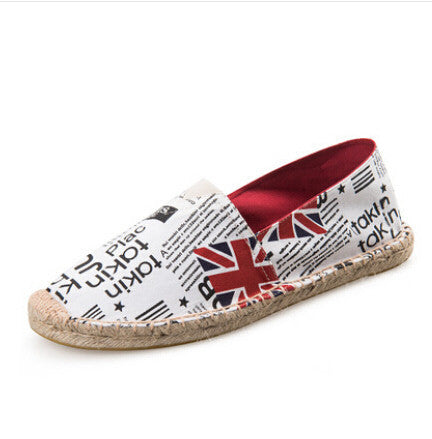 Women's Canvas Flat Espadrilles Loafers - Bestshopup