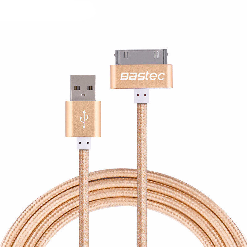 Original 30 pin Metal plug Nylon Braided Sync Data USB Cable for iphone - Bestshopup