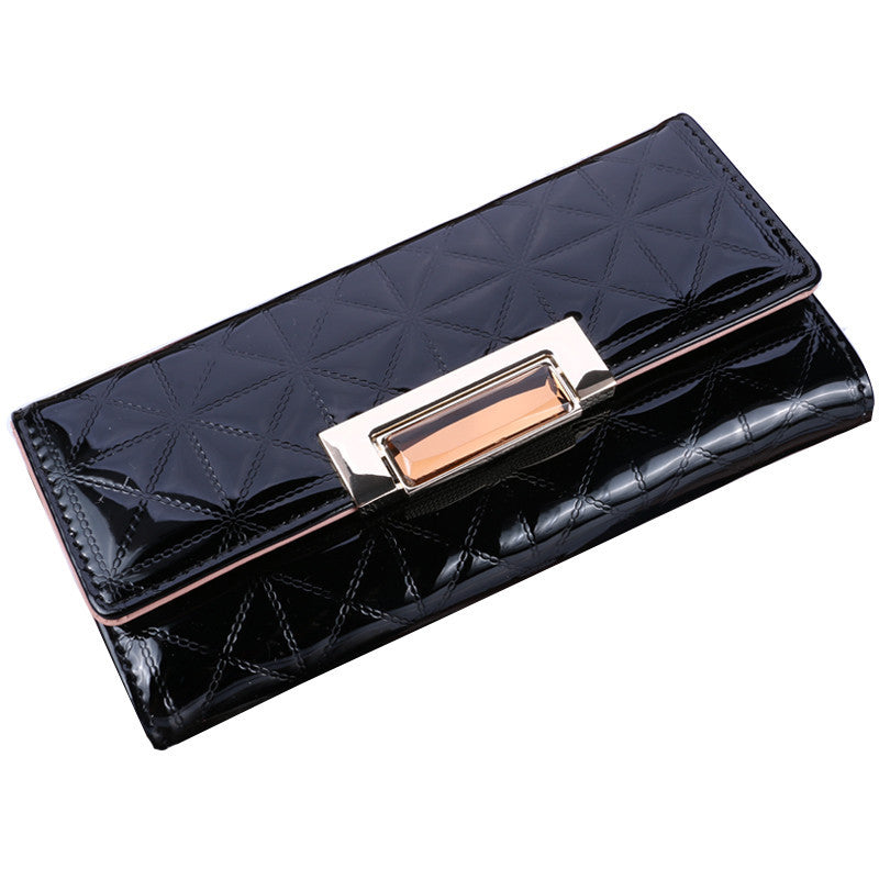Women's Spanish Patent Leather Card Holder Wallet - Bestshopup