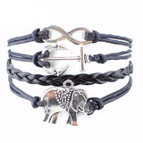 Women's Friendship Weave Butterfly,Dragonfly ,Elephant, Birds, Heart, Tree, Cross, Bracelets - Bestshopup