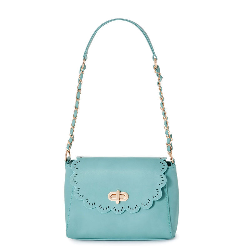 Women's PU Leather Hollow Out Chain Crossbody Bag - Bestshopup