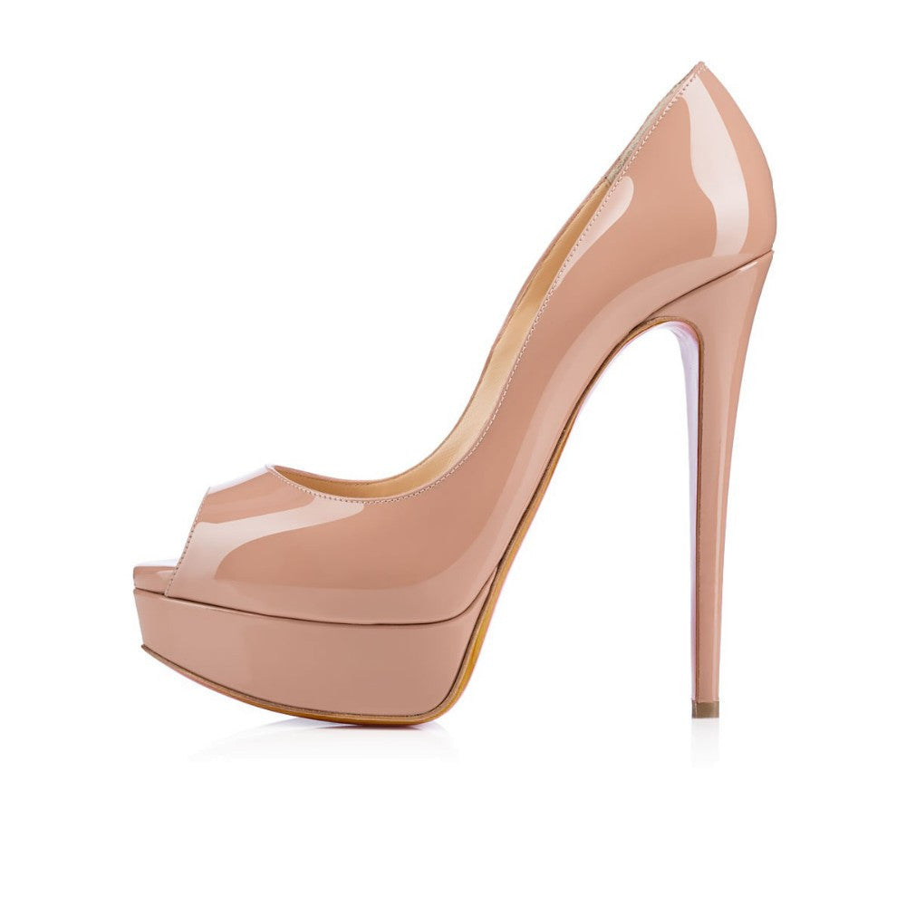 Women's Sexy Peep Toe Thin High Heels - Bestshopup