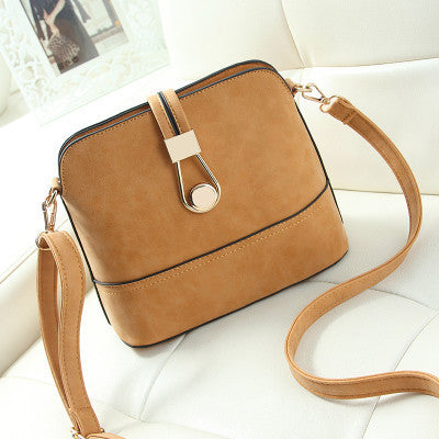 Women's Small Shell Leather Crossbody Bag - Bestshopup