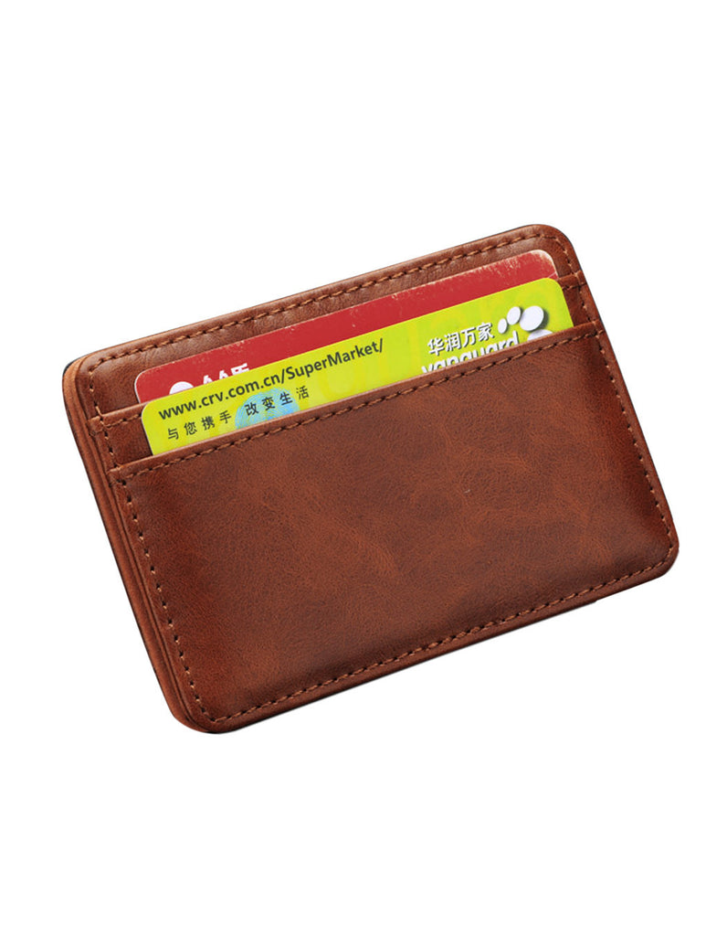 Men's Synthetic Leather Funny Magic Credit Card Wallet - Bestshopup