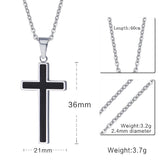 Women's Meaeguet Cross Stainless Steel 18K Gold Plated Pendant Necklaces - Bestshopup