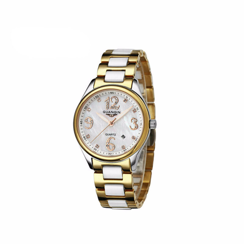 Women's Guanqin Waterproof Ceramic Wrist Watch - Bestshopup