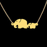 Women's Mom Baby Elephant Colar Necklaces - Bestshopup