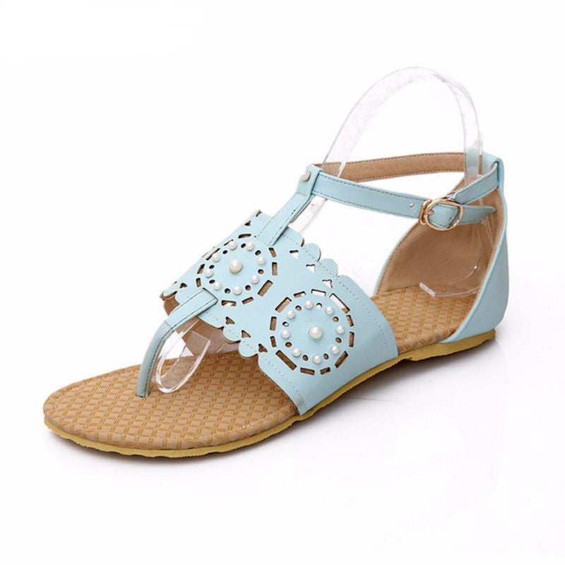 Women's Flat Flower Bohemia Hollow Out Sandals - Bestshopup
