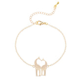 Women's Loving Giraffes Simple Bangle Bracelet - Bestshopup