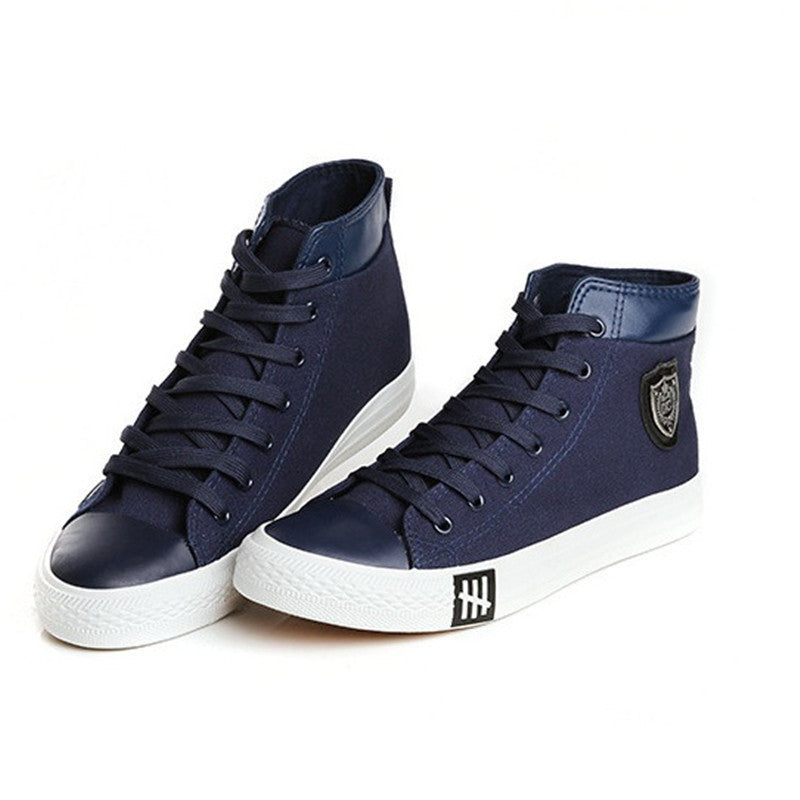 Men's Casual Canvas High Top Trainers Shoes - Bestshopup