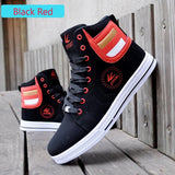 Men's Leather Casual High Top Canvas Shoes - Bestshopup