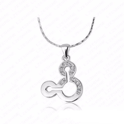Women's Little Mouse Austrian Crystal Animal Thin Necklace - Bestshopup