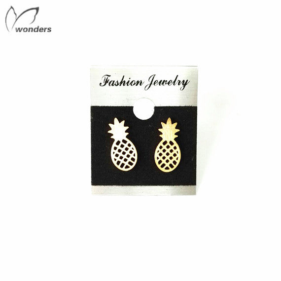 Women's Gold Plated Pineapple Stainless Steel Earrings - Bestshopup